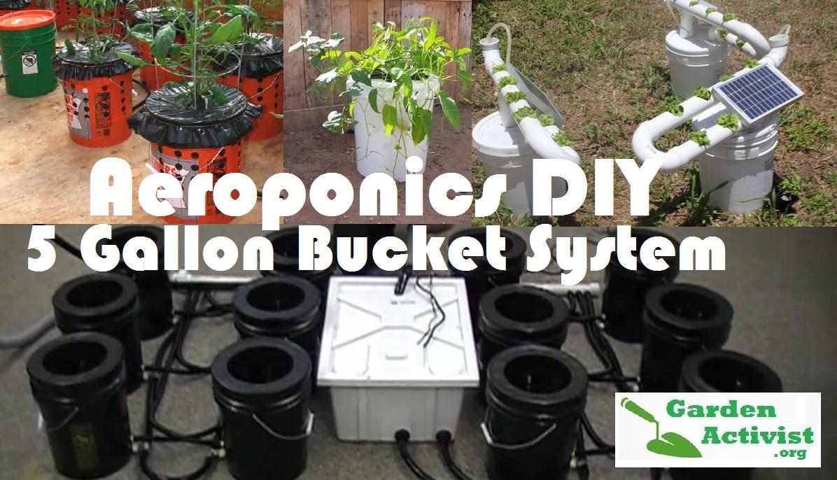 aeroponics system diy 5 gallon bucket gardenactivist org